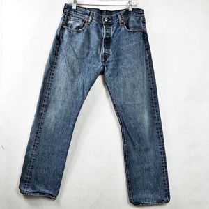 Levi's 501 Button Fly Straight Leg Jeans Size 34